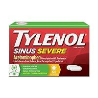 Tylenol Sinus Congest Pain Severe 24 Caplets