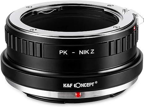 K&F Concept- Adaptador Lentes Pentax K PK para Montura Nikon Z Z6 ...