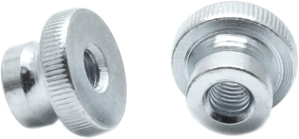 TOUHIA 10 Pcs M3 Nickel Plated Carbon Steel Knurled Thumb Nuts