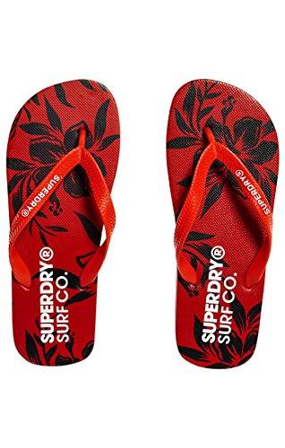 Multicolore AOP Sleek Hibiscus Club Superdry Red Flop Herren Super Flip Yacht Zehentrenner Hfwq40x