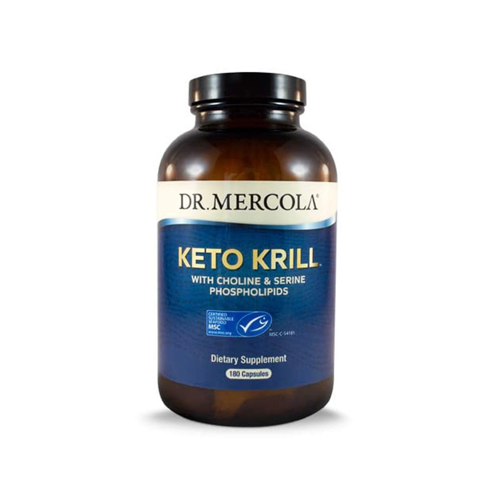 Dr. Mercola Keto Krill Dietary Supplement - 180 Capsules