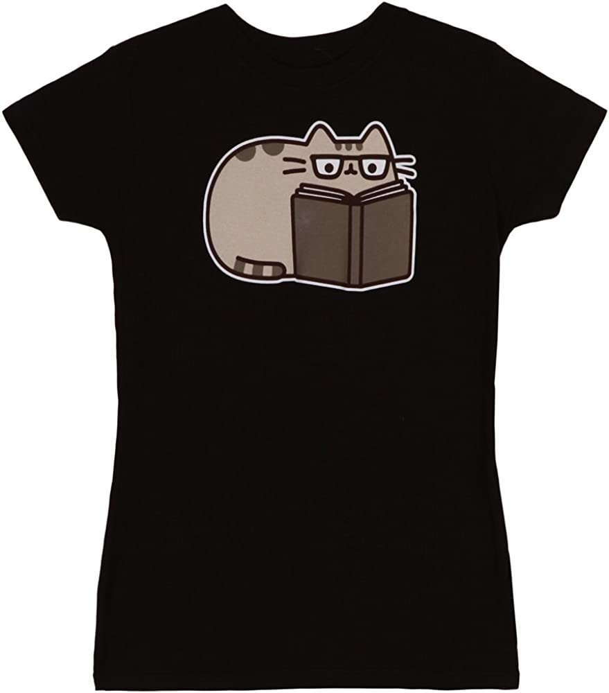Pusheen The Cat Reading Juniors T-Shirt