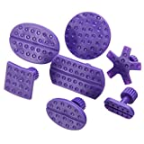 DeemoShop 24Pcs Purple Car Body Paintless Dent Hail Repair Tool Plastic Glue Puller Tabs Pad Automobile Repair Tools Set
