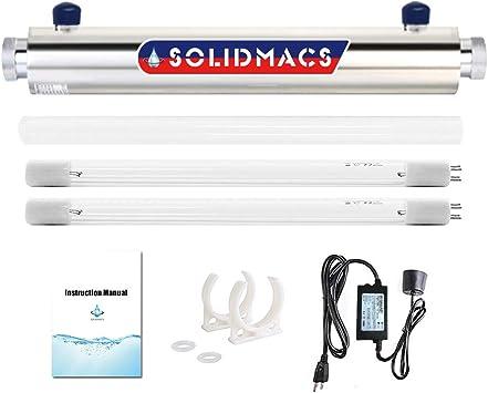 Filtro ultravioleta purificador de agua UV, 2 GPM, 16 W ...