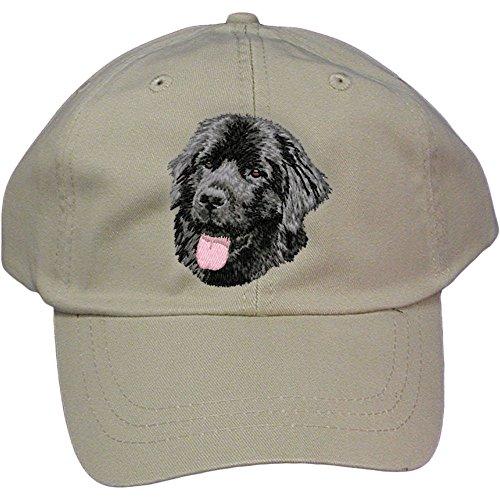 Cherrybrook Dog Breed Embroidered Adams Cotton Twill Caps - Stone - (Newfoundland Baseball Cap)