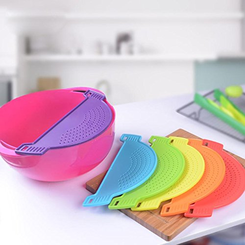 DHmart Kitchen Extras Plastic Snap and Durable Rice Wash Sieve Kitchen ()