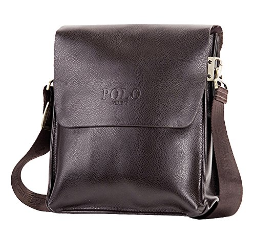 Brown Shoulder Adjustable Format Strap Missfox Vertical Small Bag Bag Business Bag Leather Soft dxxw8C