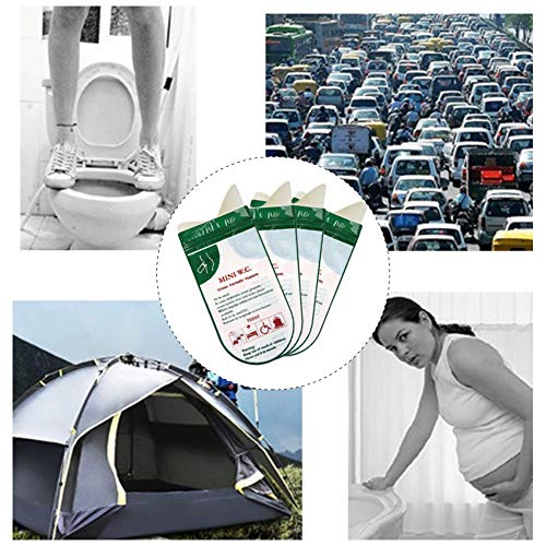GARDENYEAR 4 Pack Portable Disposable Urine Bags, Car Travel Camping Emergency Toilet Pee Bag Men Women Kids Adults…