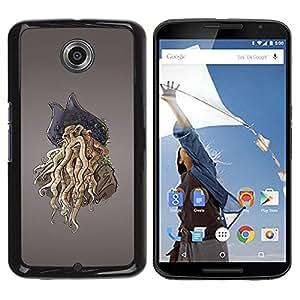 Be Good Phone Accessory // Dura Cáscara cubierta Protectora Caso Carcasa Funda de Protección para Motorola NEXUS 6 / X / Moto X Pro // Pirate Octopus Monster