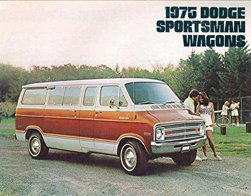1975 75 Dodge SPORTSMAN WAGON Van BROCHURE B100 (Dodge B300 Van)
