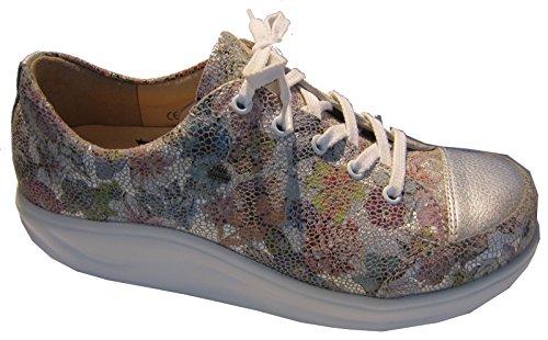 para Zapatos Piel Finnamic de Mujer de Lisa Gris Cordones CxFHq