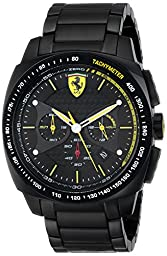 Ferrari Men\'s 0830162 Aero Evo Analog Display Quartz Black Watch