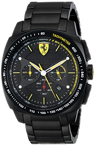 Ferrari Men's 0830162 Aero Evo Analog Display Quartz Black Watch