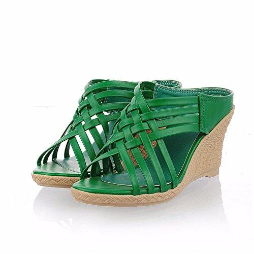 Sandalias y green sandalias tacones talones señoras Tz1TBwr