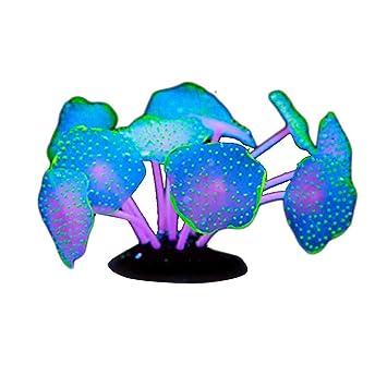 Mengonee Resplandeciente Planta de Silicona Artificial Coralino del Acuario de Agua Paisaje Pescados de la decoración del Tanque del Ornamento: Amazon.es: ...