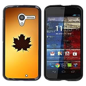 Be Good Phone Accessory // Dura Cáscara cubierta Protectora Caso Carcasa Funda de Protección para Motorola Moto X 1 1st GEN I XT1058 XT1053 XT1052 XT1056 XT1060 XT1055 // Leaf Tree