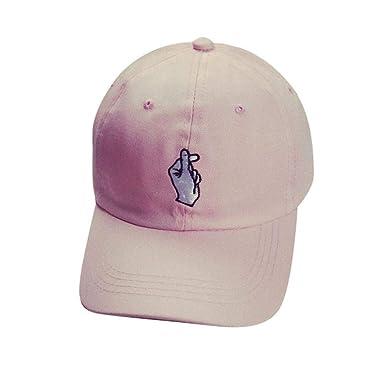 Gorra para Mujer Gorra De Béisbol Impresa Chicos Hombres Dedo ...