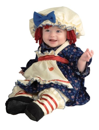 Ragamuffin Doll Costume (1-2 years with Bracelet for Mom)