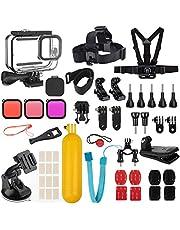 Accessoires Kit voor GoPro Hero 8 Zwart met Shockproof Case + Waterdichte Case + Gehard Glas Screen Protector + Lens Filters + Anti-Fog Inserts Bundel Compatibel met GoPro Hero 8 Zwart
