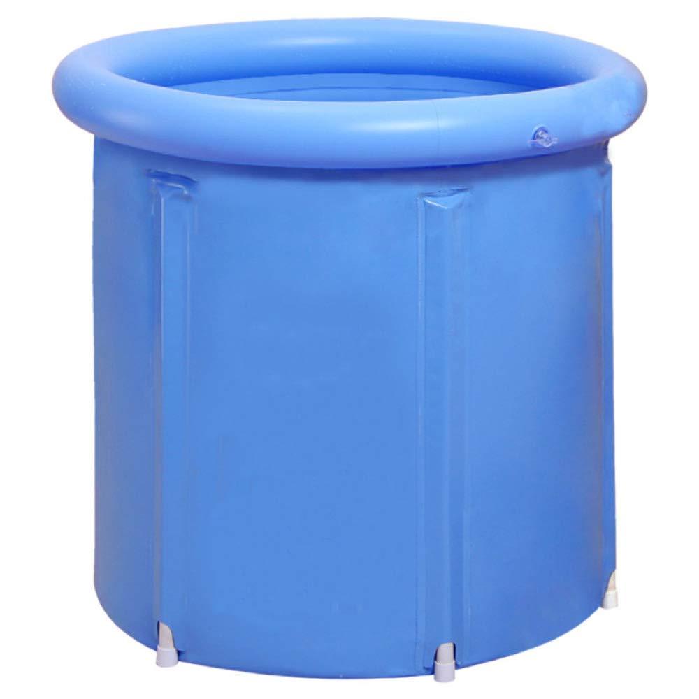 WU LAI Baignoire Pliante | Seau à Bulles | Baignoire Adulte | Baignoire Gonflable | Seau en Plastique épais | Baignoire | Bleu, Blue-65x70cm doune