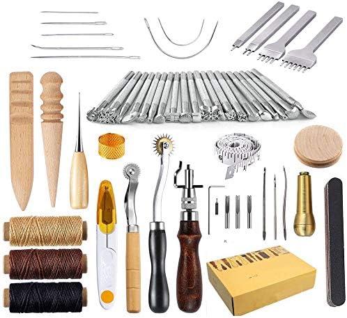 Kits de reparación de Costura de Cuero 59 Piezas Máquinas de Coser ...