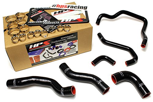 HPS 57-1478-BLK-2 Black Silicone Radiator Coolant//Heater Hose Kit