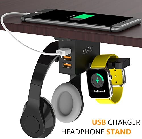 COZOO Headphone Stand with USB Charger 18