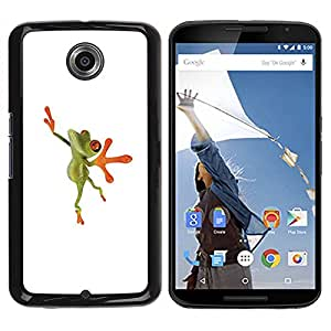 Paccase / SLIM PC / Aliminium Casa Carcasa Funda Case Cover para - Ballerina Dancer Frog Happy - Motorola NEXUS 6 / X / Moto X Pro
