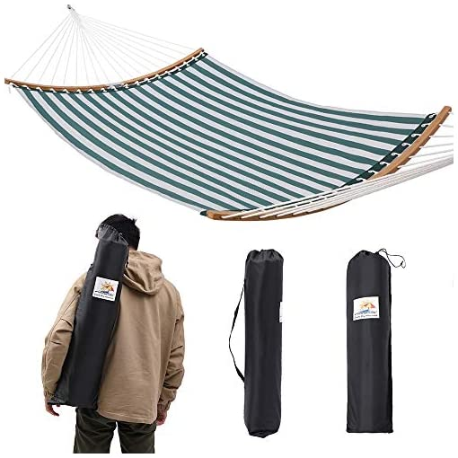 Garden and Outdoor Patio Watcher 14 FT Quick Dry Hammock Folding Curved Bamboo Spreader Bar Portable Hammock for Camping Outdoor Patio Yard… hammocks