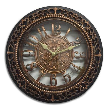 Wall Clock Creative 3D Wall Clock Modern Design European Retro Style Crown Resin Clocks Vintage Wall Watch Home Decor Silent 12 inch