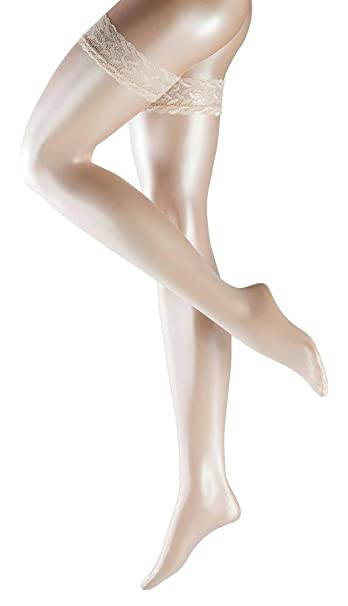5a8c11368 Falke Womens Shelina Stay Up Shimmer 12 Denier Stockings - Champagne Gold -  Large