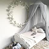 Bed Canopy, Dyna-Living Mosquito Stopping Net Dome Tent Light Block Out Room Decorate W/Assembly Tools for Boys Girls Reading Playing Indoor Game House, Cotton, Height-90 inch(Grey)