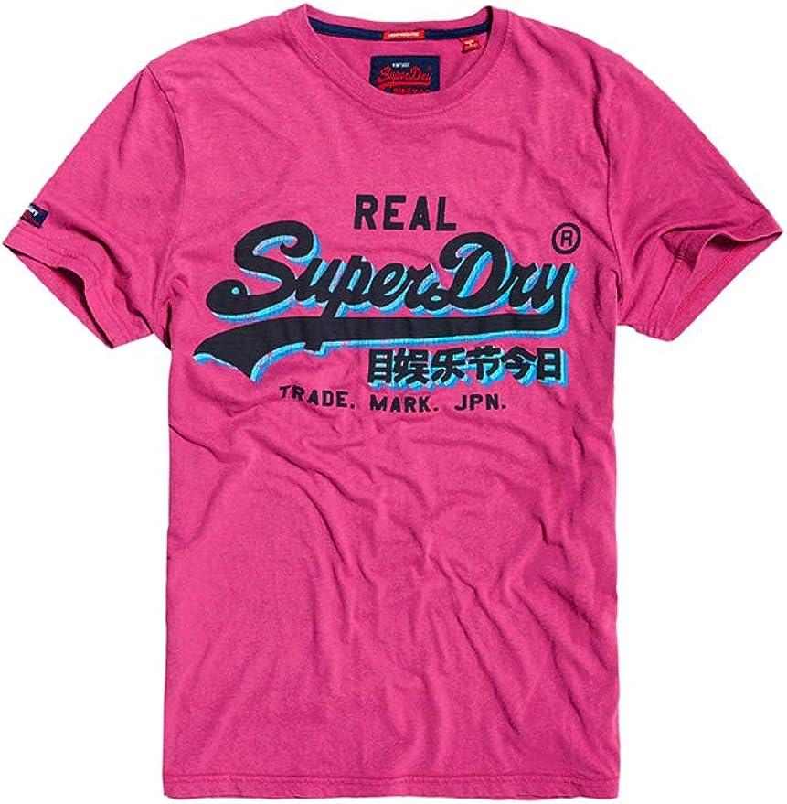 Superdry Vintage Logo Panel Lite tee Camiseta para Hombre: Amazon ...