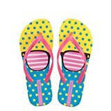 Hotmarzz Women's Glasses Printing Summer Colorful Beach Slippers Flip Flops Sandals Size 7 B(M) US/38 EU/39 CN, Glasses Pink