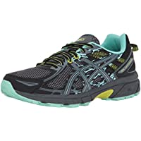 Asics Women's Gel-Venture 6 Running-Shoes (Black/Carbon/Neon Lime)