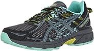 ASICS Women's Gel-Venture 6 Running-Shoes,Black/Carbon/Neon Lime,9 Mediu