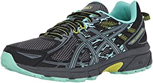 ASICS Women's Gel-Venture 6 Running-Shoes,Black/Carbon/Neon Lime,10 Medium US