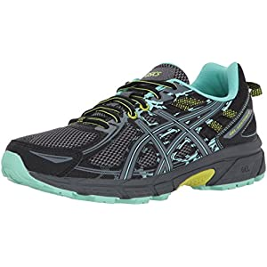 ASICS Women's Gel-Venture 6 Running-Shoes,Black/Carbon/Neon Lime,8 Medium US