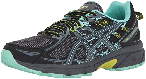 ASICS Gel-Venture 6 Women's Running Shoe, Black/Carbon/Neon Lime, 7.5 M US