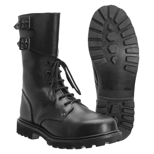 Black French Military Style Ranger Boots BXY1VmYw4U