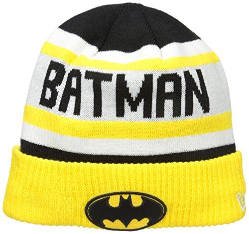 Gold Knit Beanie (New Era Cap Men's Biggest Fan 2.0 Batman Knit Beanie, Gold, One Size)
