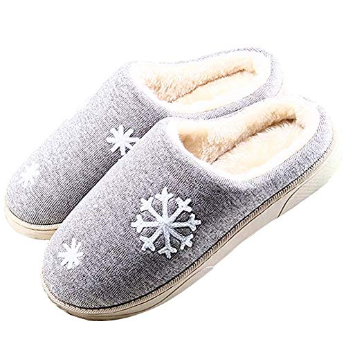 Con Lcycn Pantofole Imbottitura Invernali Caldo Antiscivolo In Gray Cotone AqWRSO4q