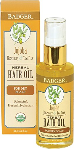 Badger Jojoba Hair Oil, 2.0 Ounce