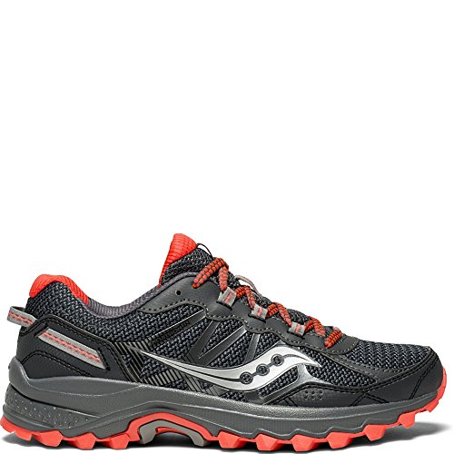 Saucony Women's Excursion TR11 Running Shoe, Grey/Red, 8 Medium (Red Womens Running Shoe)