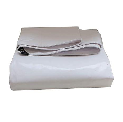 Lona impermeable QFQ Blanco Resistente al Agua Carro Impermeable Cobertizo Tienda de campaña Cubiertas de Suelo