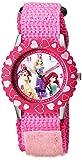 Disney Kids' W000966 Princess Stainless Steel Time Teacher Pink Watch