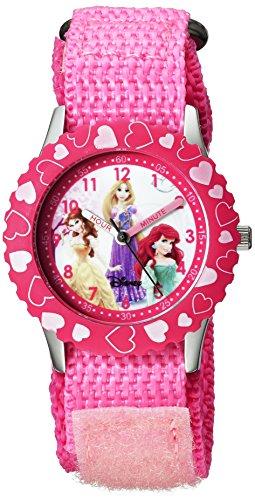 Disney Kids' W000966 Princess Stainless Steel Time Teacher Pink Watch by Disney