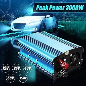 Car Inverters - Car Inverter 3000W DC 12/24/48/ To 220V Solar Power Inverter Converter for road trips vacations outdoors car truck (60V to 220V)