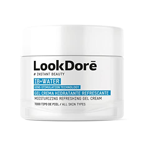 Lookdoré IB+Water Gel - Crema Hidratante Facial - Todo tipo de piel - Sensación Refrescante -50ml