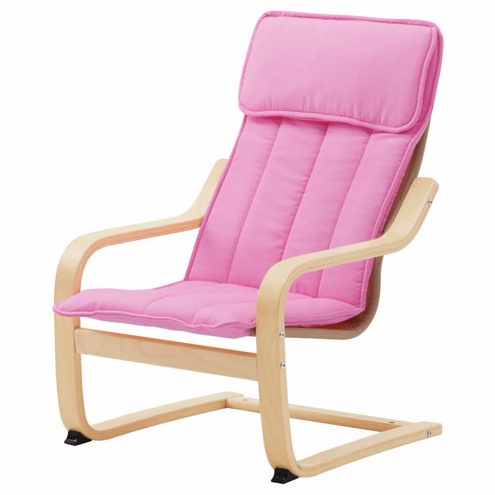 POANG Children39;s armchair, birch veneer, Almas pink